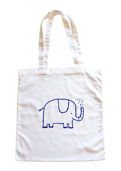 Tiny the Elephant Book Bag
