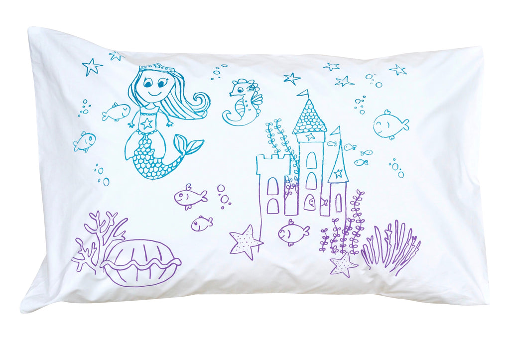 Molly Mermaid Pillowcase -Rainbow