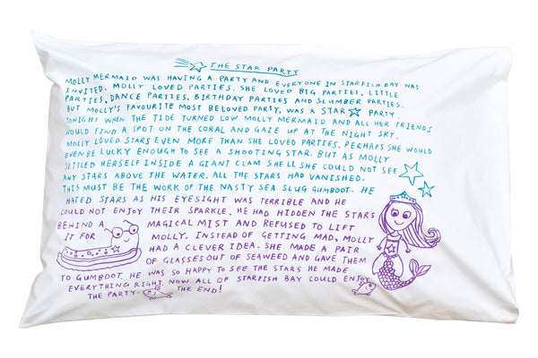 Star Party Bedtime Story Pillowcase -Rainbow