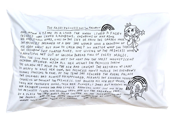 Fairy Princess Bedtime Story Pillowcase -Black