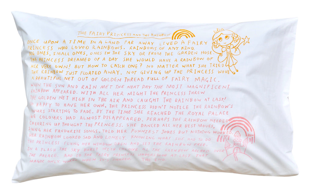 Fairy Princess Bedtime Story Pillowcase -Rainbow