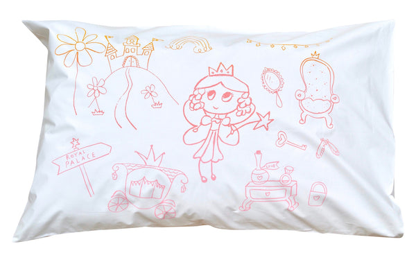 Fairy Princess Palace Pillowcase -Rainbow