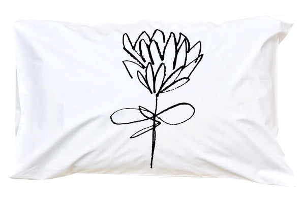 Black Protea Pillowcase