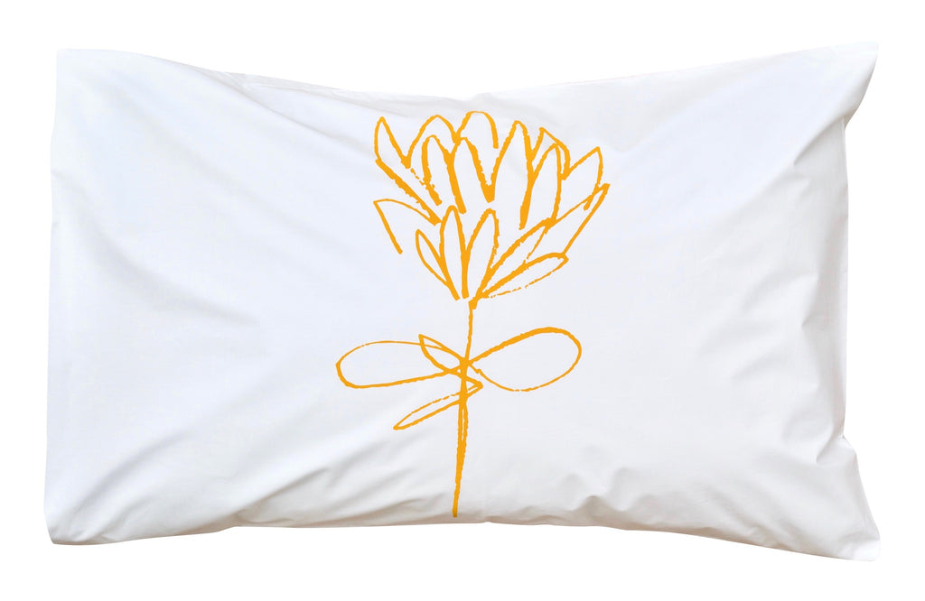 Mustard Protea Pillowcase