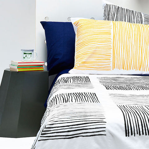 Black Lines Duvet Cover
