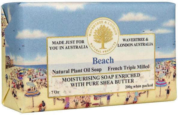 Beach Triple-Milled Soap in Embossed Florentine Paper