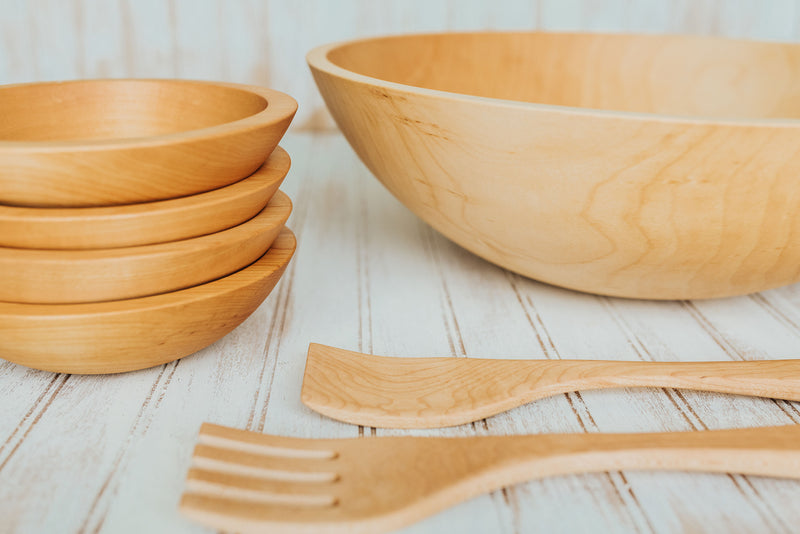 Heirloom Beech Salad Bowls 🇺🇸