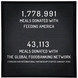 donating two million meals with Feeding Americ