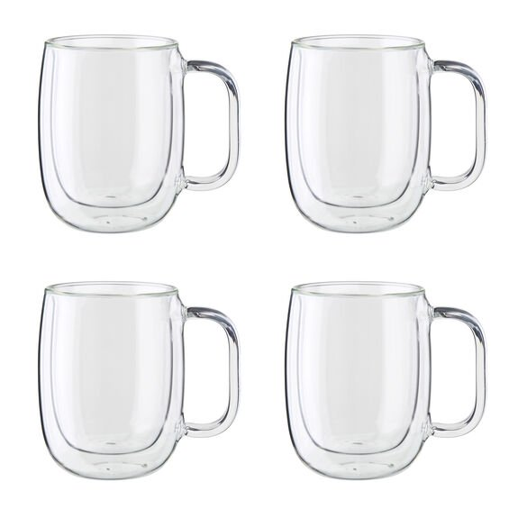 Beautiful Giftboxed Set of 4 Double-wall glass Coffee Cups