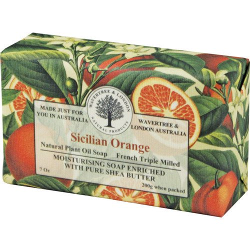 Fragrant Orange Triple-Milled Soap in Embossed Florentine Paper