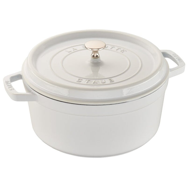 Staub's White Heirloom Enamel Cast Iron Dutch Ovens🇫🇷