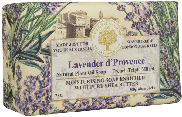 Lavendar Triple-milled Soap in Embossed Florentine Paper 🇦🇺