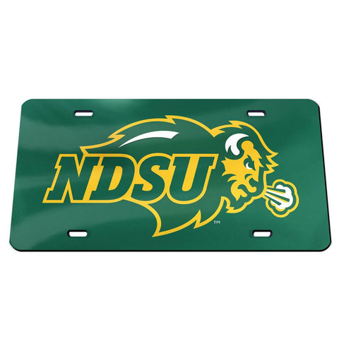 NDSU Bison Green Acrylic License Plate