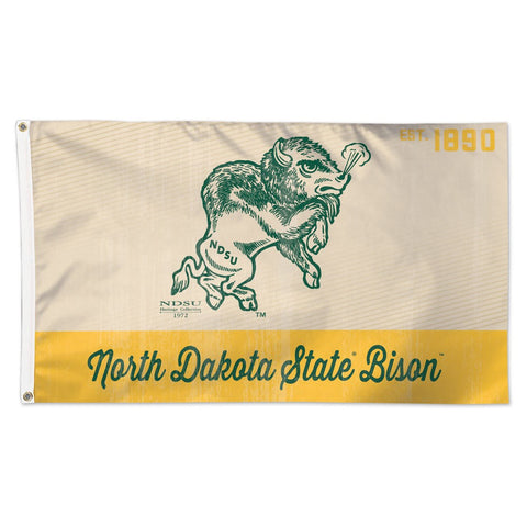 NDSU Vintage Snorty Flag - One Herd