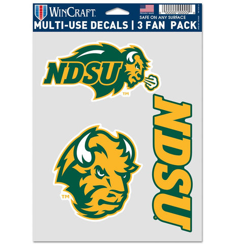 NDSU Bison 3pk Multi Use Decal