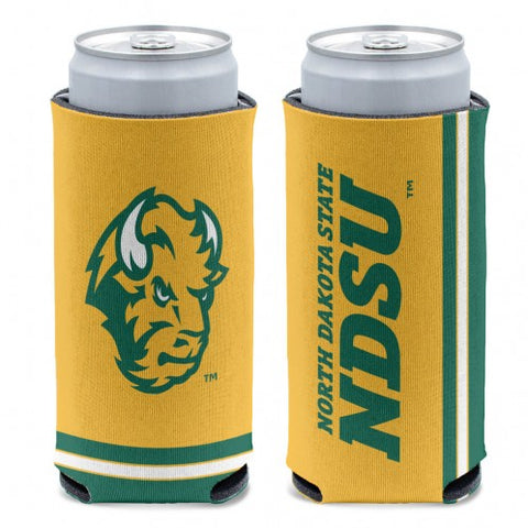NDSU Bison 12oz Slim Can Cooler - One Herd