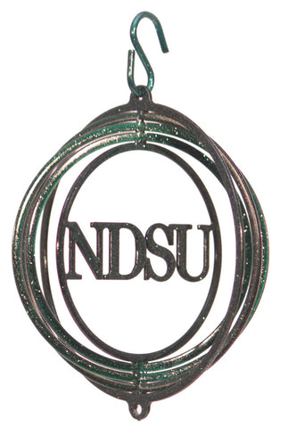 NDSU BISON Tini Swirly Metal Collegiate Christmas Tree Ornament - One Herd