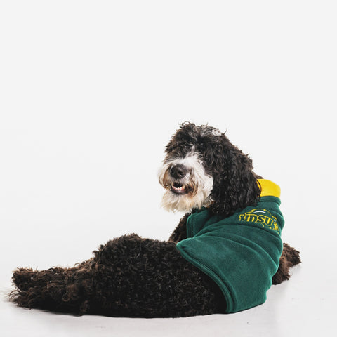 NDSU Bison Double Polar Dog Coat - One Herd