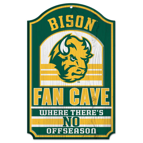 NDSU Bison Fan Cave Wood Sign