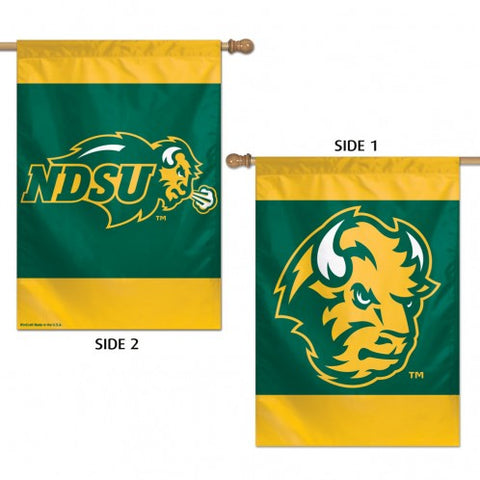 "NDSU Bison 28"" X 40"" 2 Sided Vertical Flag - One Herd"