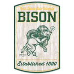 NDSU Bison Vintage Wood Sign/Snorty