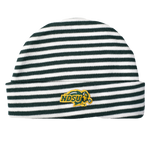 NDSU Bison Green Striped Knit Cap Newborn - One Herd