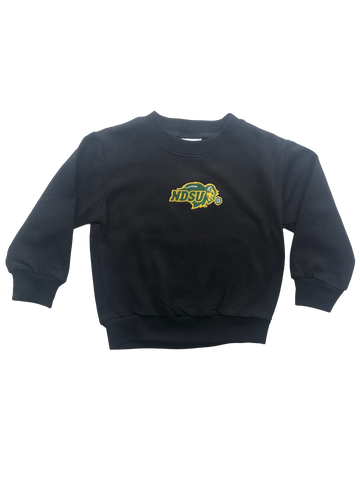 NDSU Bison Black Toddler Sweatshirt