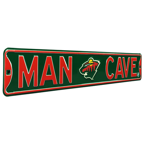 Minnesota Wild Steel Street Sign with Logo-MAN CAVE