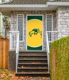 NDSU Bison Front Door Decor - Gold - One Herd
