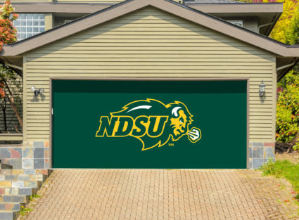 NDSU Bison Double Garage Door Decor - Green - One Herd