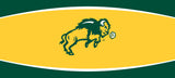 NDSU Bison Double Garage Door Decor - Gold - One Herd