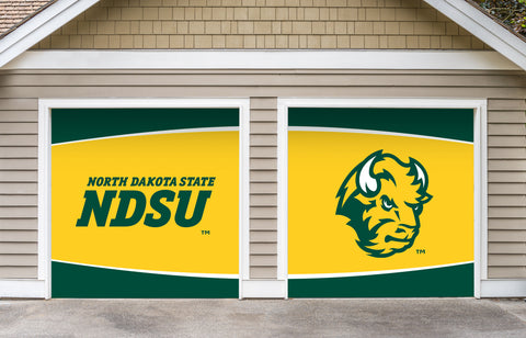 NDSU Bison Split Garage Door Decor - Gold - One Herd