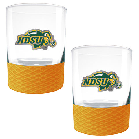 NDSU Bison The Commissioner Rocks Glass Set - One Herd