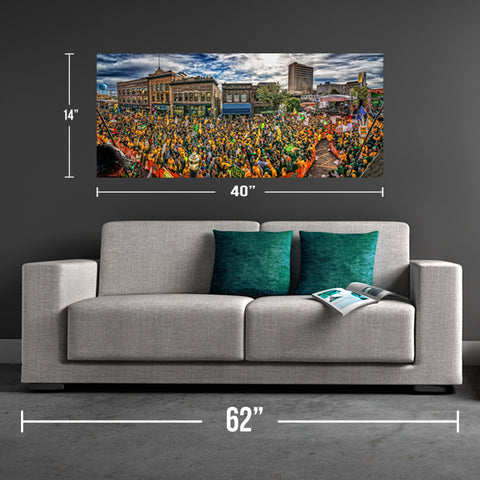 Downtown Fargo ESPN College Gameday Canvas Print - One Herd
