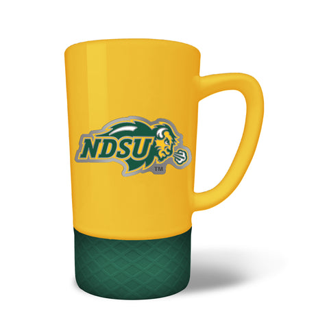 NDSU Bison The Team Color Jump Mug with Metal Emblem - One Herd