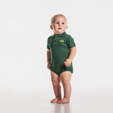NDSU Bison Green Polo Bodysuit