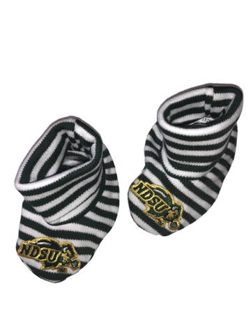 NDSU Bison Newborn Striped Booties - One Herd