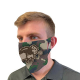NDSU Bison Camo Fan Mask Face Cover
