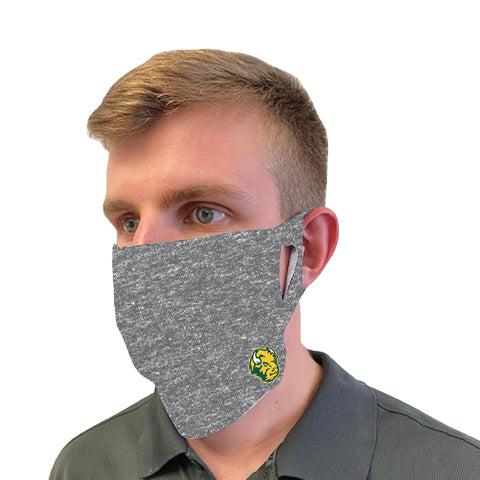 NDSU Bison Gray Fan Mask Face Cover