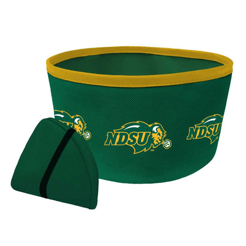 NDSU Bison Collapsible Travel Bowl - One Herd