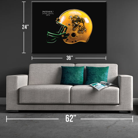NDSU 1972 Heritage Collection Helmet Canvas Print - One Herd