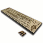 NDSU Bison Wood Cribbage Board