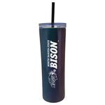 NDSU Bison Onyx Skinny Tumbler with Straw - One Herd