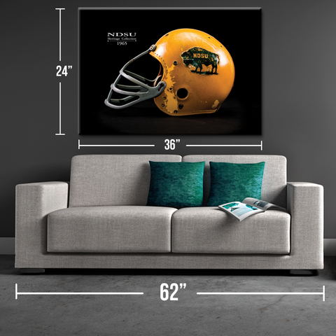 NDSU 1965 Heritage Collection Helmet Canvas Print - One Herd