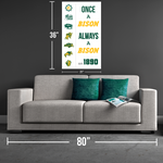 Once a Bison, Always a Bison NDSU Canvas Print - One Herd