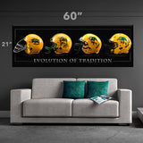 NDSU Bison Tradition Helmets Canvas Print - One Herd