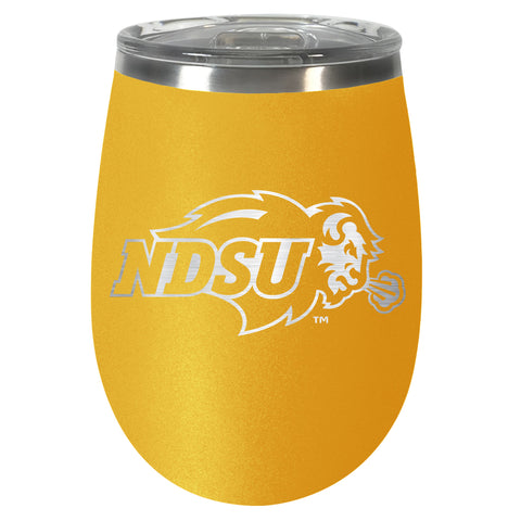 NDSU Bison Gold Team Colored Wine Tumbler - One Herd