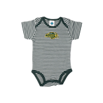 NDSU Bison Striped Green Infant Bodysuit