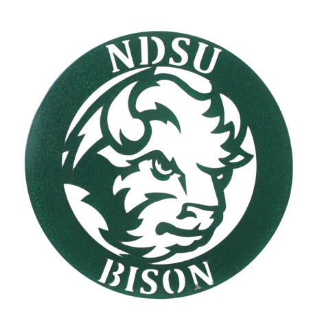 NDSU Bison Metal Wall Hanging - One Herd