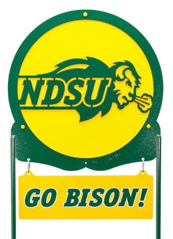 NDSU Bison Scenic Logo Metal Yard Sign